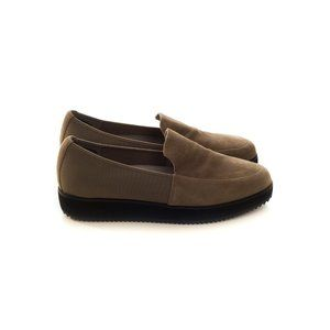 EILEEN FISHER Low Wedge Suede Loafers